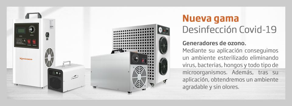 Generadores de ozono, desinfección, covid-19, coronavirus, limpieza